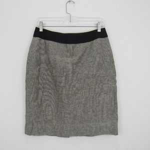 J Crew Womens Pencil Skirt Size 6 Black and White